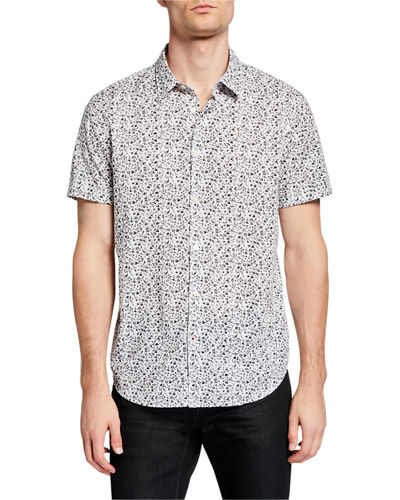 Men's Floral Short-Sleeve Sport Shirt