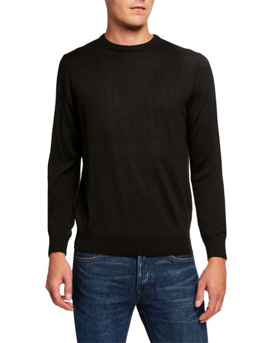 Men's Basic Wool-Blend Pullover Sweater