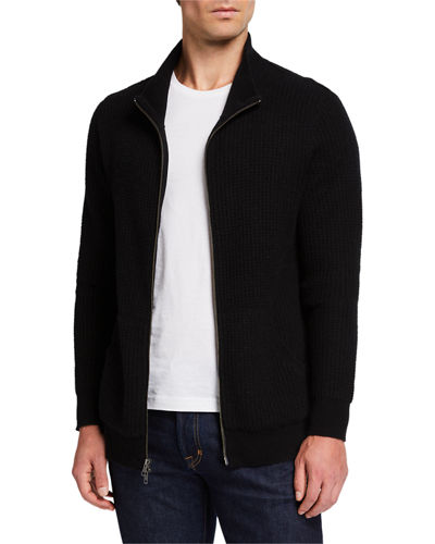 Men's Cashmere Thermal Zip-Front Jacket
