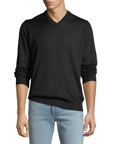 Men's V-Neck Long-Sleeve Sweater