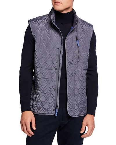 Men's Quilted Zip-Pocket Vest