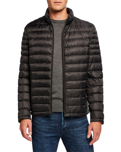 Men's Nylon Down Hipster Quilted Jacket