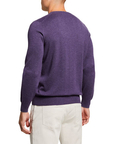 Men's Cashmere V-Neck Sweater