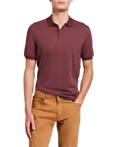 Men's Short-Sleeve Solid Polo Shirt