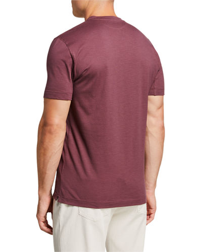Men's Slim V-neck Cotton T-Shirt