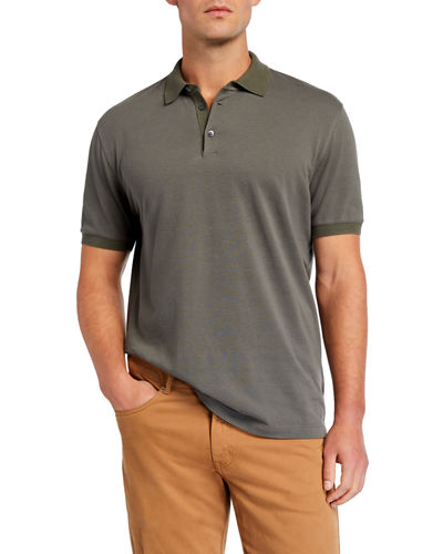 Men's Solid Short-Sleeve Polo Shirt