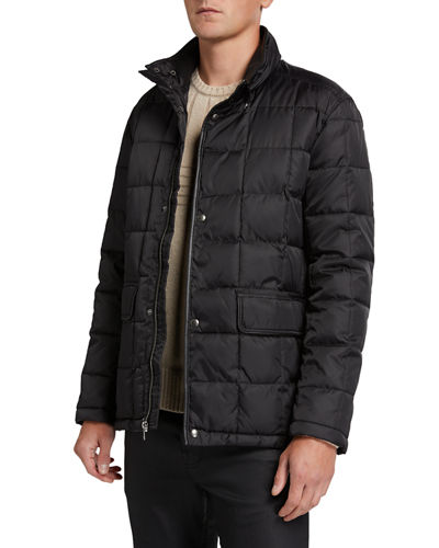 Men's Box-Quilted Down Jacket