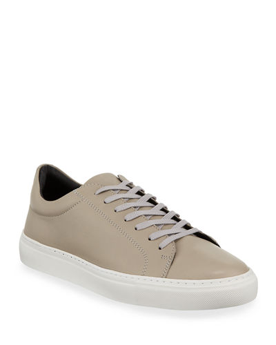 Damian Perforated Leather Skate Sneakers