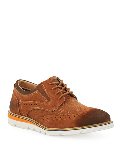 Men's Rocky Suede Sneaker Sole Oxfords