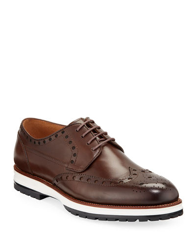 Men's Rocky Leather Sneaker Sole Oxfords