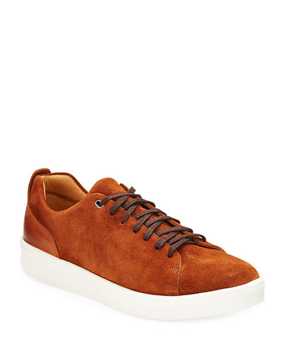Men's Alan Suede/Leather Low-top Sneakers