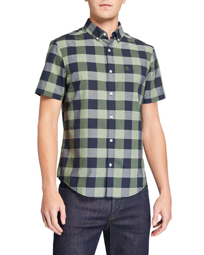 Men's Short-Sleeve Plaid Sport Shirt