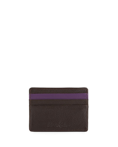 Men's Denham Embossed Leather Card Case