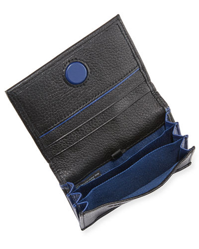 Men's Metropolis Embossed Leather Bi-Fold Wallet