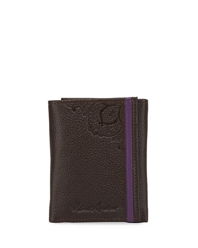 Men's Wilkes Embossed Leather Tri-Fold Wallet