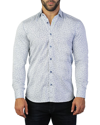 Men's Fibonacci Cross Graphic Sport Shirt