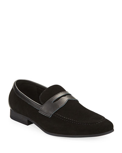 Men's Siena Suede Penny Loafers