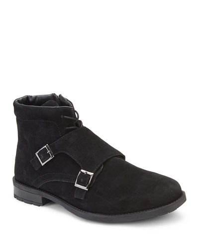 Men's Camolin Double-Monk Suede Boots