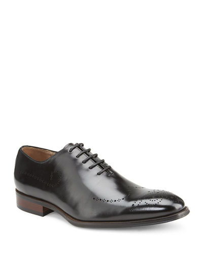 Men's Landon Brogued Leather Lace-Up Dress Shoes