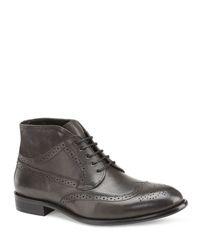 Men's Graham Mixed Leather Dress Boots