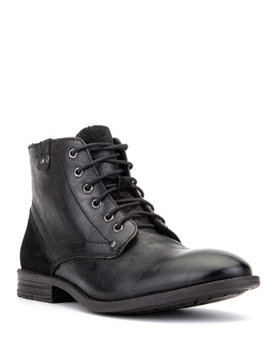 Men's Zion Mixed Leather Combat Boots