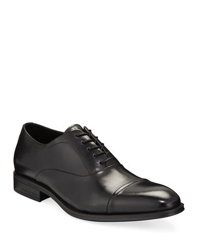 Men's Leather Cap-Toe Oxford Dress Shoes