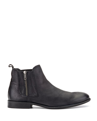 Men's Liam Leather Side-Zip Chukka Boots