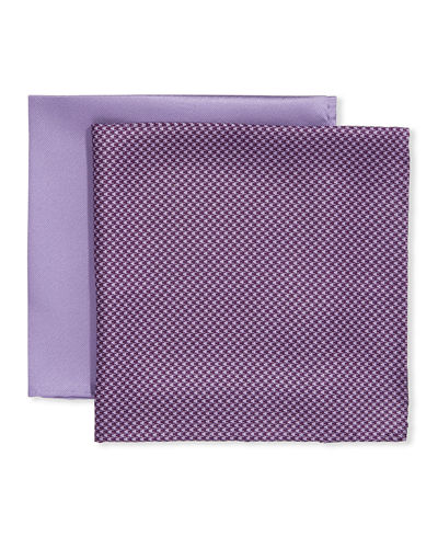 Men's 2-Pack Solid & Houndstooth Pocket Squares