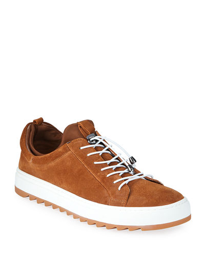Men's Rick Drawstring Suede Sneakers