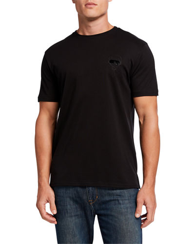 Men's Embroidered Head Short-Sleeve T-Shirt