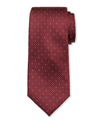 Men's Textured Dot Silk Tie