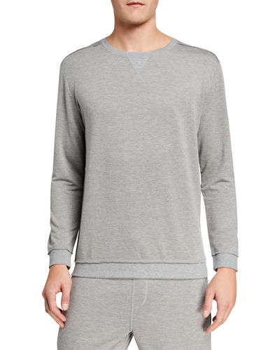 Men's Raw-Seam Pullover Sweatshirt