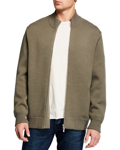 Men's Turtleneck Zip-Front Cardigan