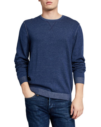 Men's Inside Out Rolled Crewneck Sweater