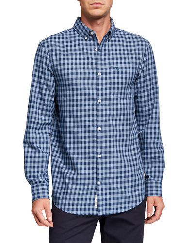 Men's Long-Sleeve Jaspe Check Shirt
