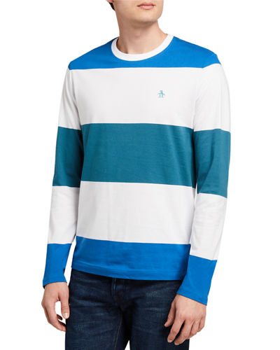 Long-Sleeve Striped Jersey Tee