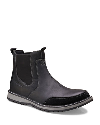 Men's Mixed Leather Chelsea Boots