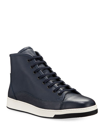 Livorno High-Top Leather Court Sneakers