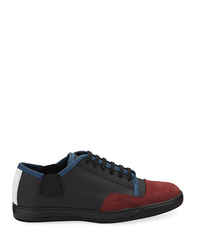 Bellagio Colorblock Mixed Leather Sneakers