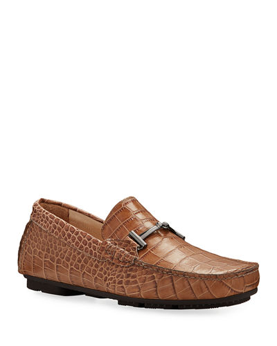 Roma Mock-Croc Leather Drivers