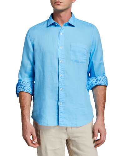 Men's Linen Long-Sleeve Shirt