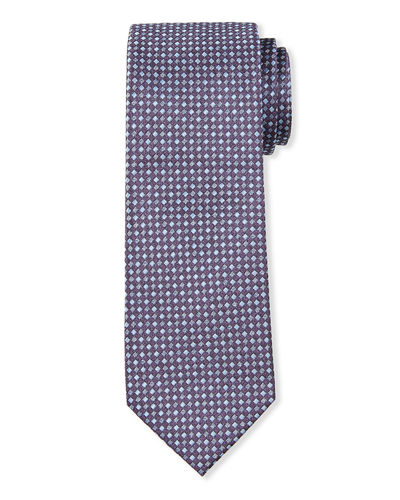 Men's Neat Check Silk Tie