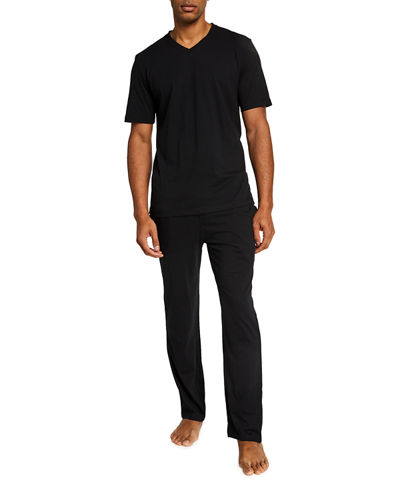 Men's Lounge V-Neck Tee and Logo Pant Set