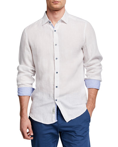 Men's Linen Long-Sleeve Sport Shirt