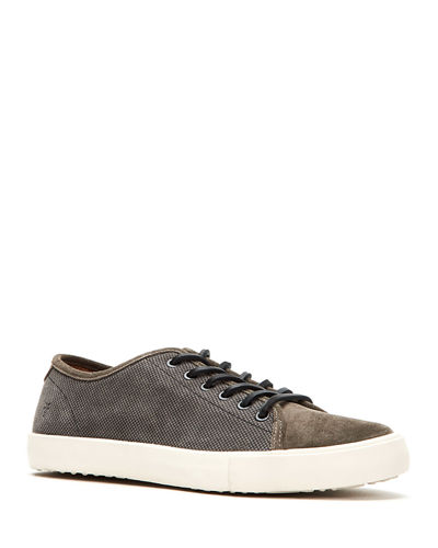 Men's Brett Suede Low-Top Court Sneakers