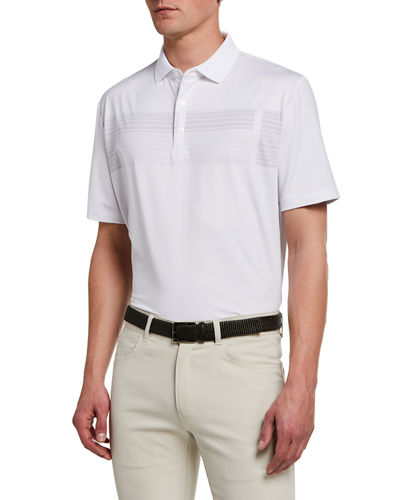 Men's Polo Shirt with Stripe Detail