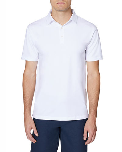 Men's Solid Interlock Polo Shirt