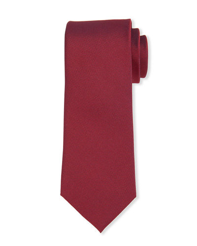 Textured Solid Silk Tie