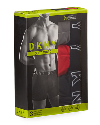3-Pack Brushed Boxer Briefs