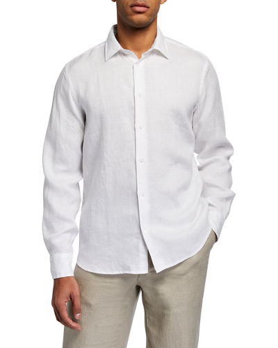 Men's Piece-Dyed Linen Sport Shirt